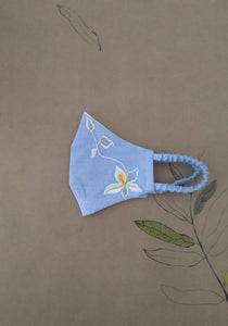 VRITTA Meadow Chambray Face Mask - Wan Blue