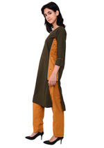 Load image into Gallery viewer, Embroidered Designer Kurta - Army Green