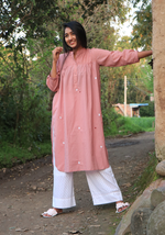 Load image into Gallery viewer, Heaven's Dew Easy Day Pale Blush Kurta