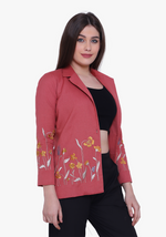 Load image into Gallery viewer, Dusty Cedar Meadow Floral Jacket