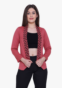 Dusty Cedar Geo-pattern Jacket