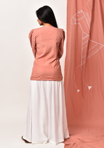 Load image into Gallery viewer, Tribal Round Neck Peach Shirt