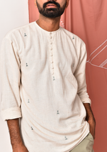 Load image into Gallery viewer, Men's Impressions Of Tribe After Glow Short Kurta