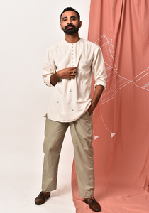Men's Impressions Of Tribe After Glow Short Kurta