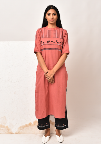 Forest Of Enchantments Dusty Cedar Kurta Set