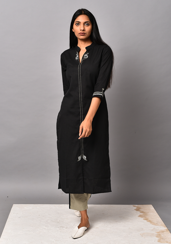 Black Order Of Tribe Kurta Set