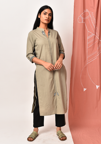 Fair Green Order Of Tribe Kurta Set
