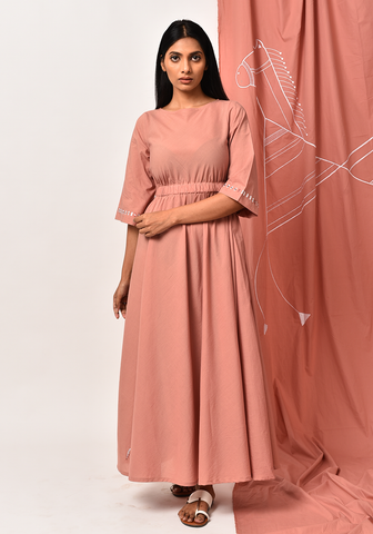 Aura Of Tribe Peach Dress
