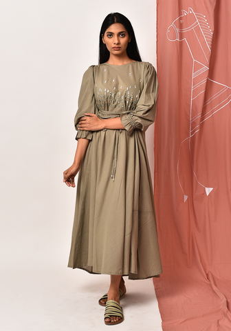 Makira Fair Green Maxi Dress