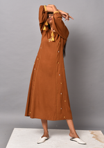 Load image into Gallery viewer, Shafira A-Line Brown Dress