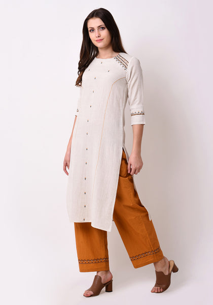 Tribal Embriodred Kurta - After Glow