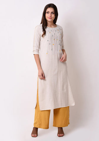 Floral Embroidered After Glow Kurta Set