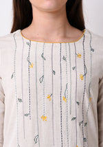 Load image into Gallery viewer, Floral Embroidered Kurta - After Glow