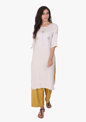 Minimal Embroidered After Glow Kurta Set