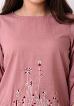 Load image into Gallery viewer, Floral Embroidered String Top - Pale Blush