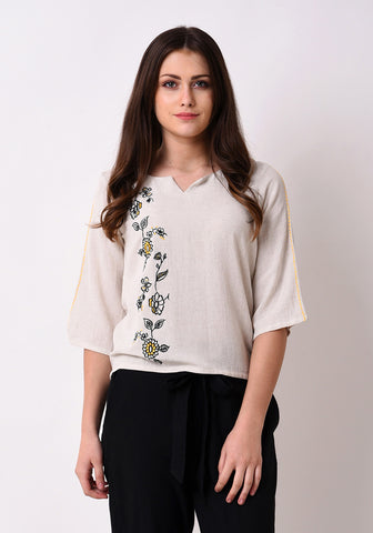 Floral Embroidered Top - After Glow
