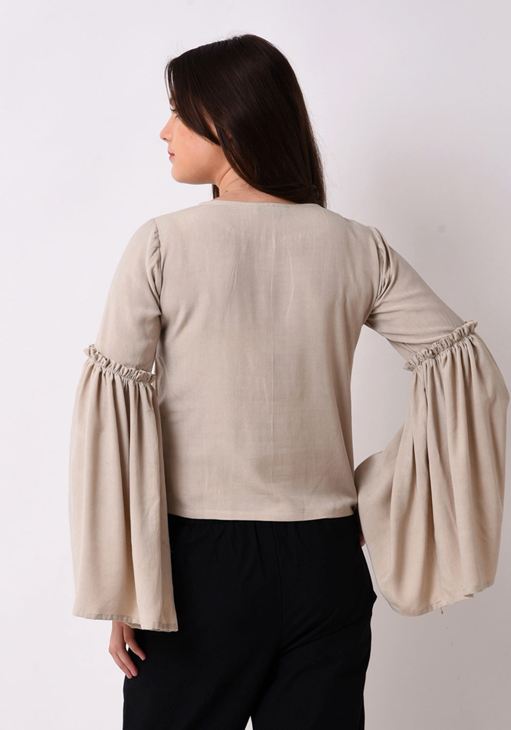 Front Embroidered Top - After Glow