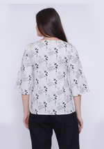 Load image into Gallery viewer, Floral Printed Embroidered After Glow Top