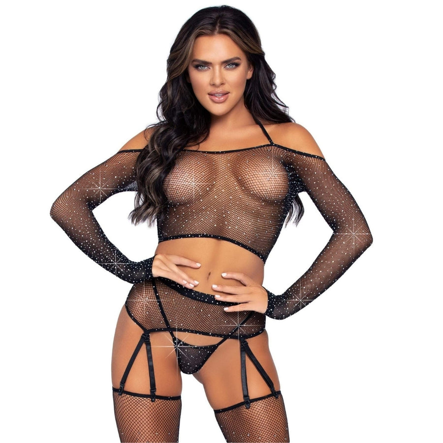 MONROE GARTER BELT SET 4PC