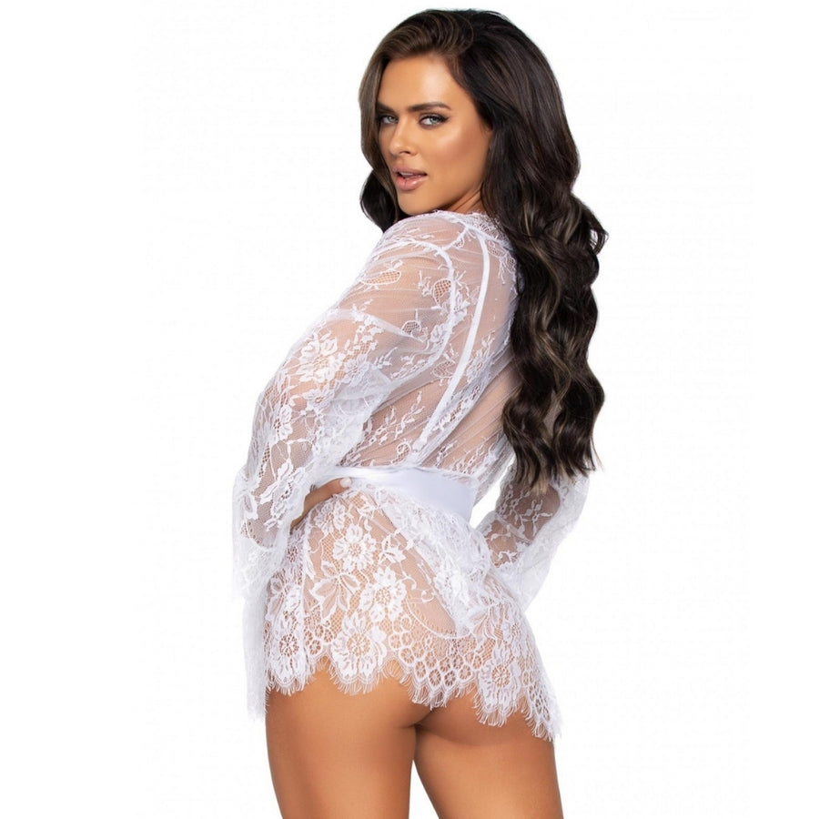 FLORA WHITE LACE TEDDY