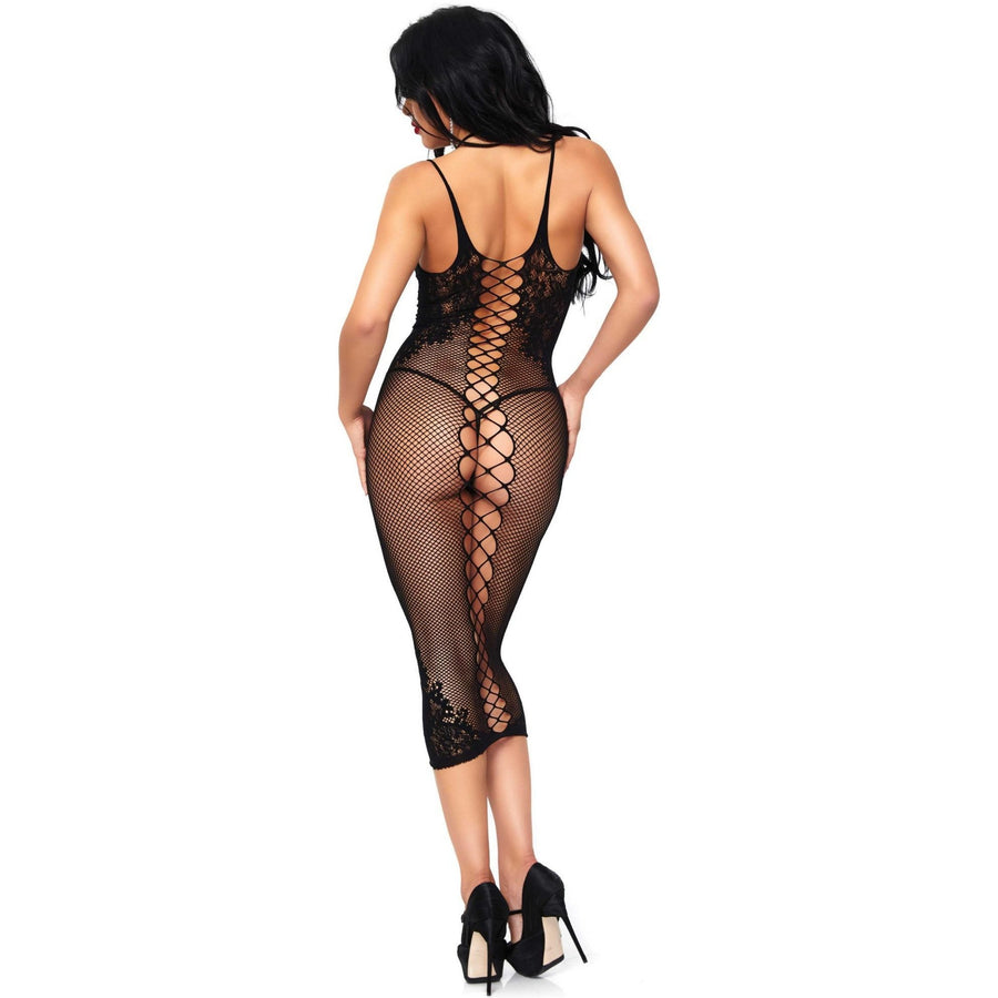 LATTICE BODY CON DRESS (Size