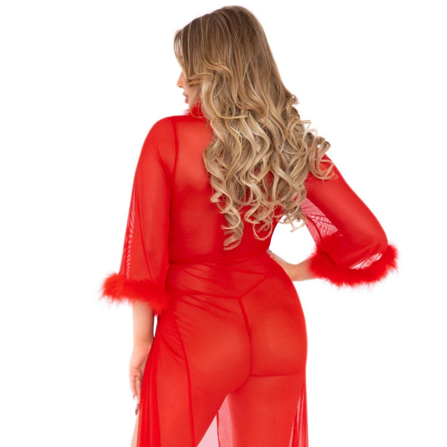 ROSE RED ROBE SET