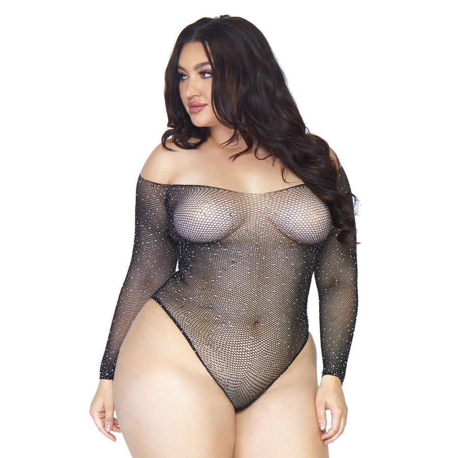 NAUGHTY LIST CRYSTAL CURVY TEDDY