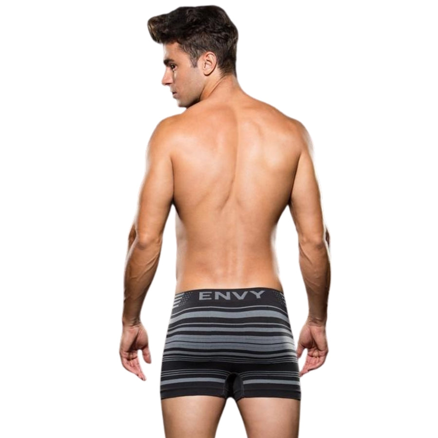 ENVY SEAMLESS GREY STRIPED BOXER