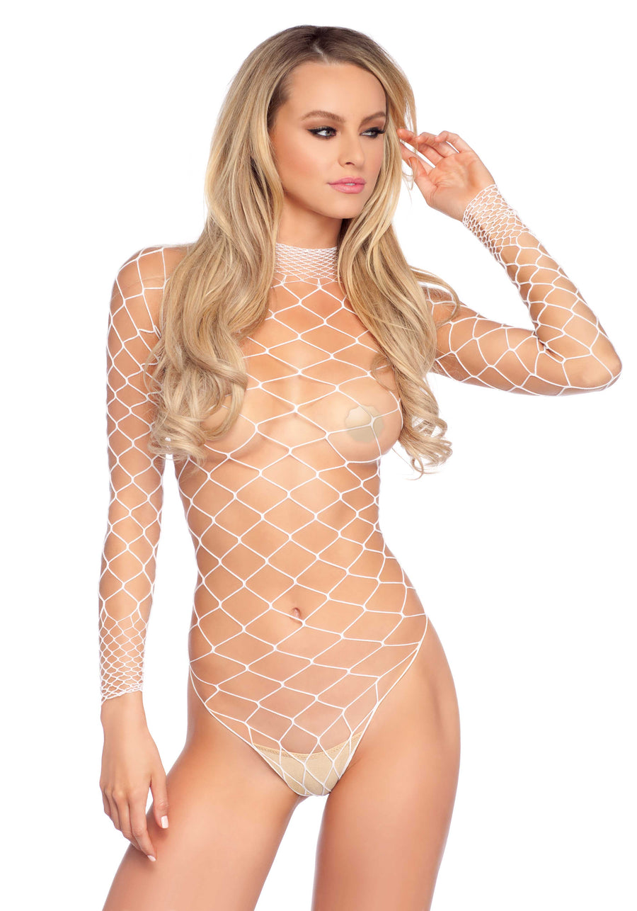 AQUA WHITE NET TEDDY