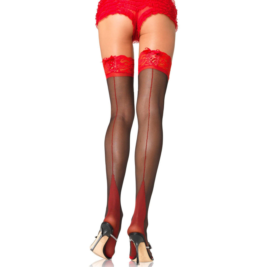 ROUGE TWO TONE THIGH HIGHS (Size 6 - 16)