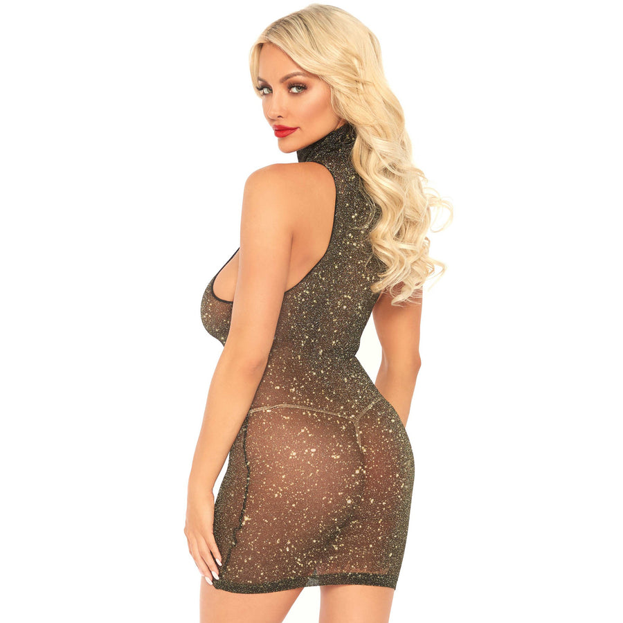 NAUGHTY LIST ELEANOR GOLD SHORT DRESS