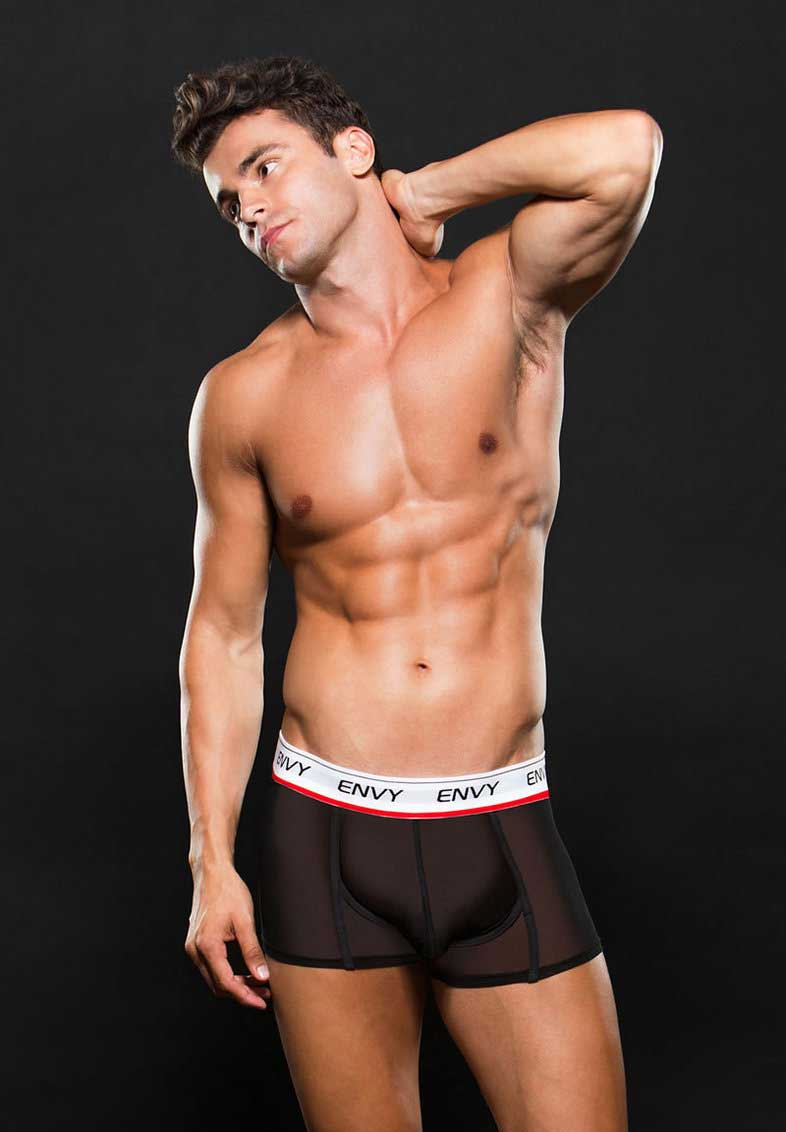 ENVY BLACK MESH LOW RISE TRUNK