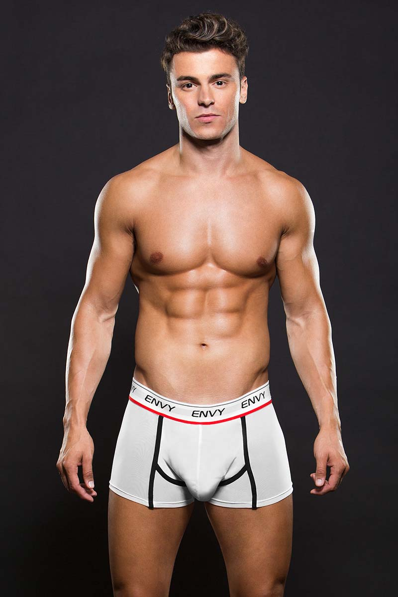 ENVY WHITE H PATTERN BOXER SHORT