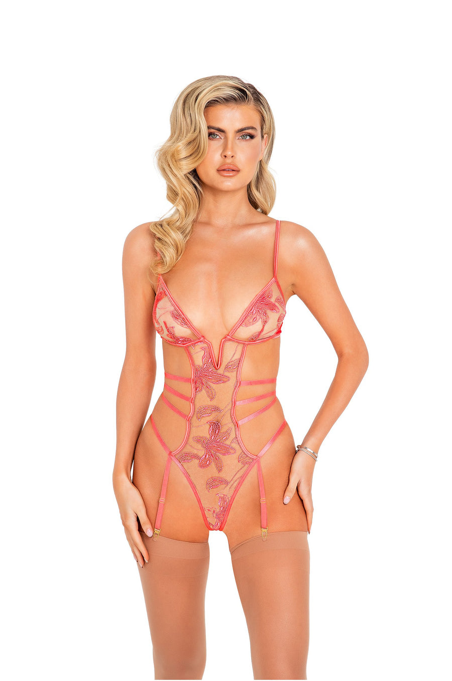 Ariella 1pc Floral Teddy