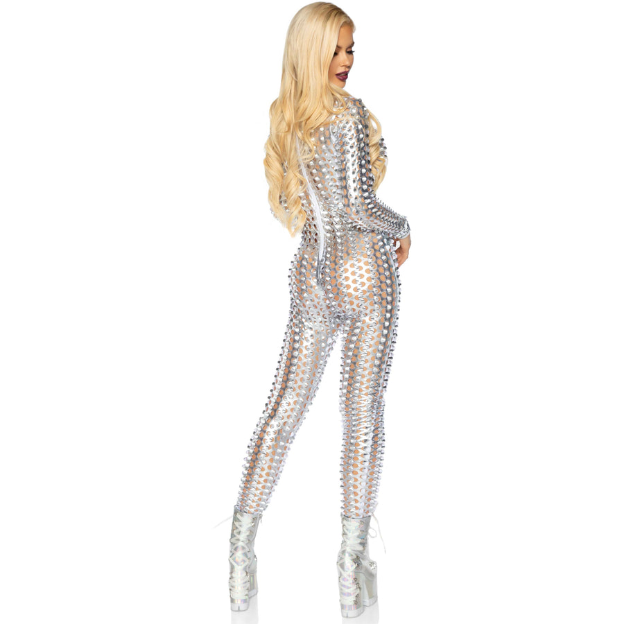 Laser Cut Metallic catsuit