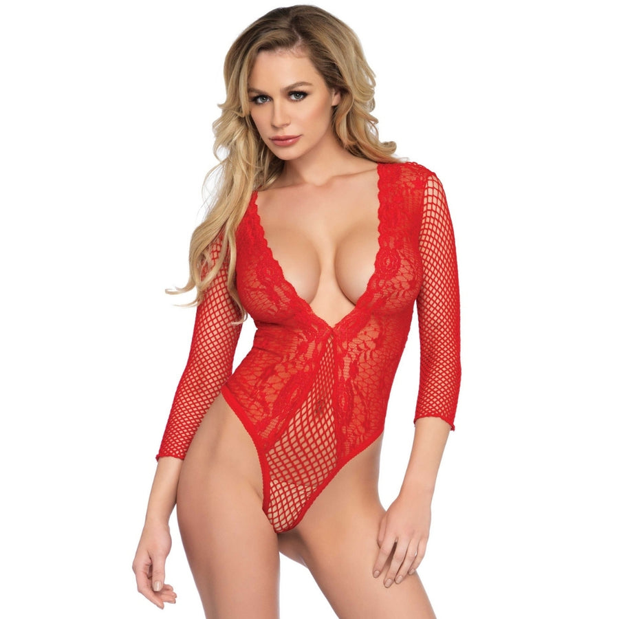 RENA RED LACE TEDDY