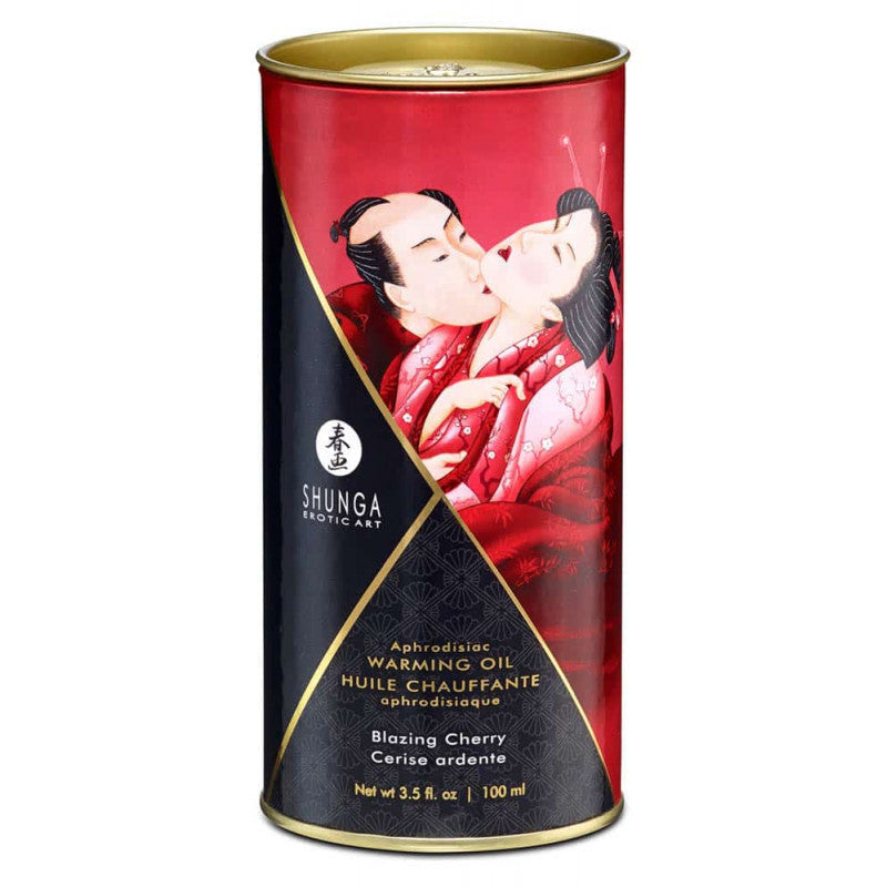 SHUNGA APHRODISIAC WARMING OIL - BLAZING CHERRY 100ml