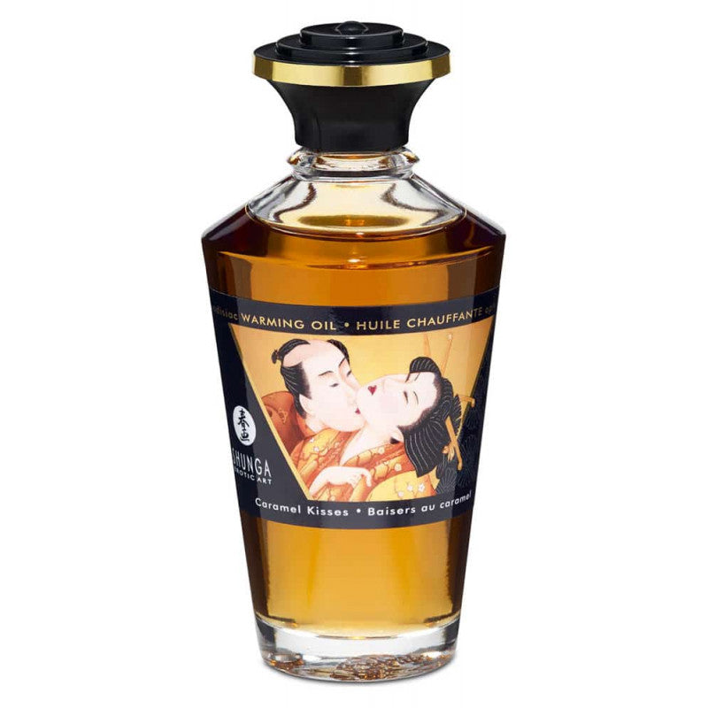 SHUNGA APHRODISIAC WARMING OIL - CARAMEL KISSES 100ml
