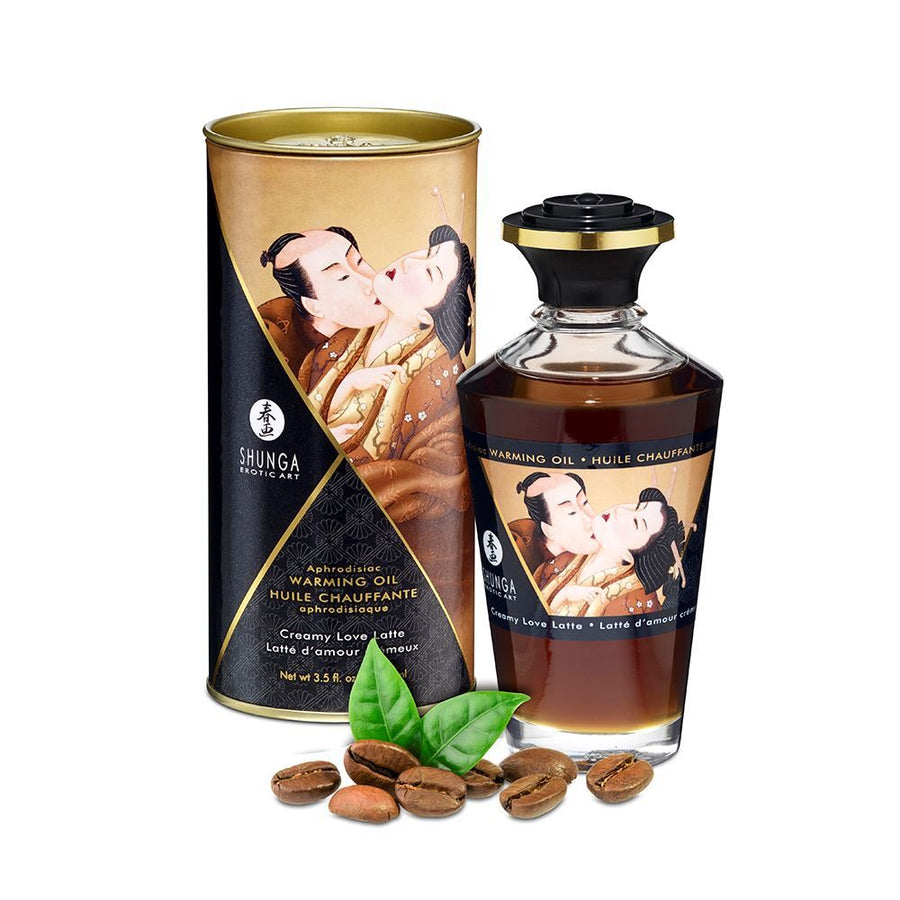 SHUNGA APHRODISIAC WARMING OIL - CREAMY LOVE LATTE 100ml