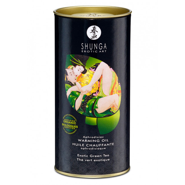 SHUNGA APHRODISIAC WARMING OIL - EXOTIC GREEN TEA 100ml