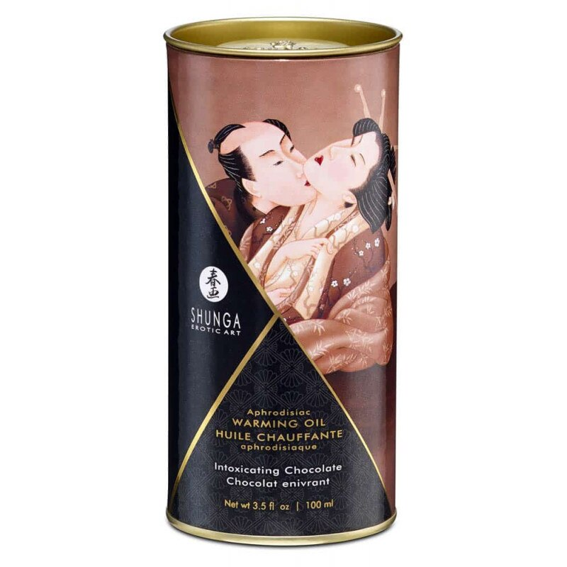 SHUNGA APHRODISIAC WARMING OIL - INTOXICATING CHOCOLATE 100ml