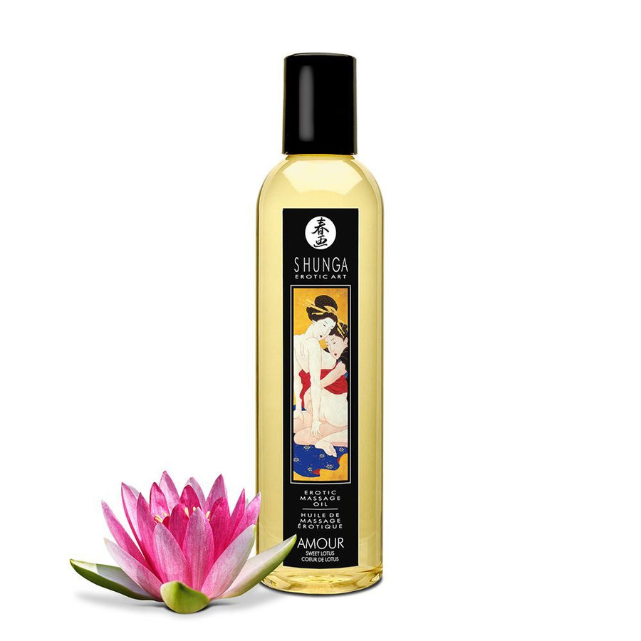 SHUNGA EROTIC MASSAGE OIL - AMOUR SWEET LOTUS 240ml