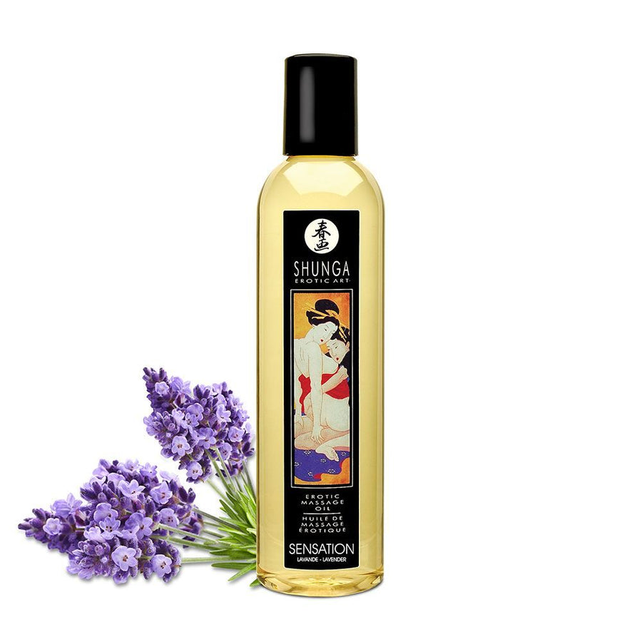 SHUNGA EROTIC MASSAGE OIL - SENSATION LAVENDER 240ml