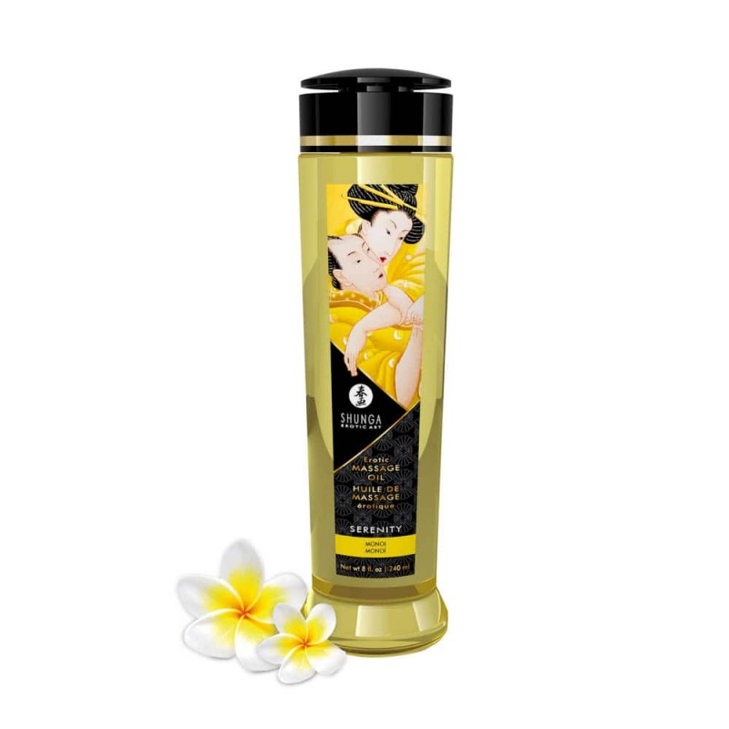 SHUNGA EROTIC MASSAGE OIL - SERENITY MONOI 240ml