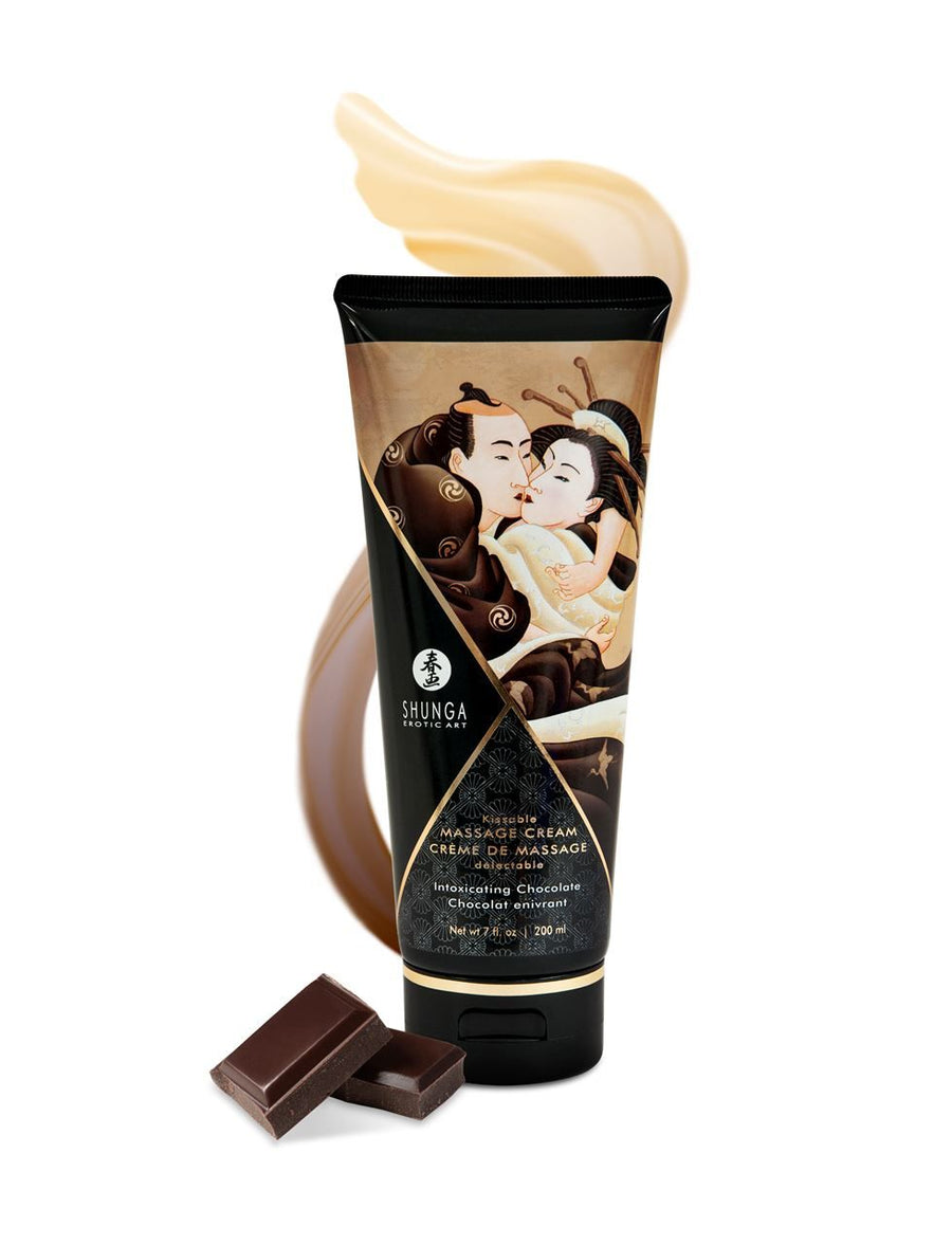 SHUNGA KISSABLE MASSAGE CREAM - INTOXICATING CHOCOLATE 200ml