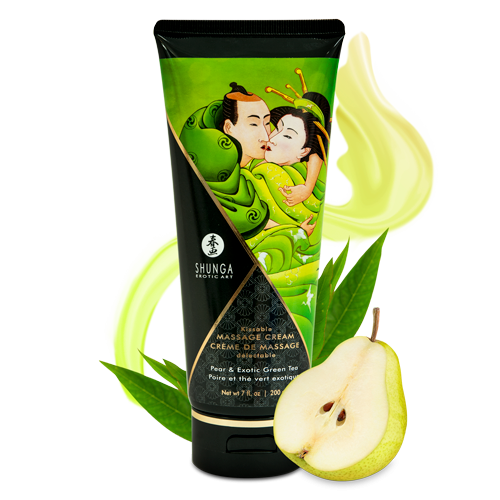 SHUNGA KISSABLE MASSAGE CREAM - PEAR & EXOTIC GREEN TEA 200ml