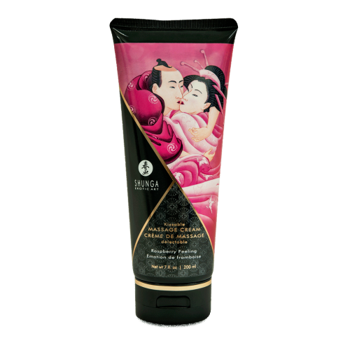 SHUNGA KISSABLE MASSAGE CREAM - RASPBERRY FEELING 200ml