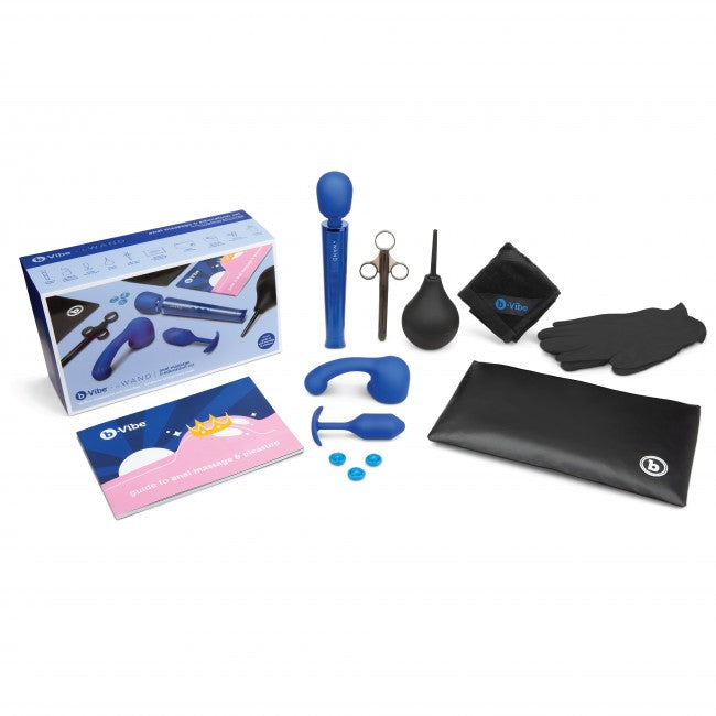 b-Vibe ANAL MASSAGEN & EDUCATION SET BLUE