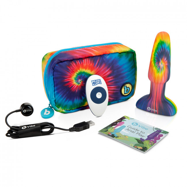 b-Vibe PEACE & LOVE TIE-DYE RIMMING PLUS SET