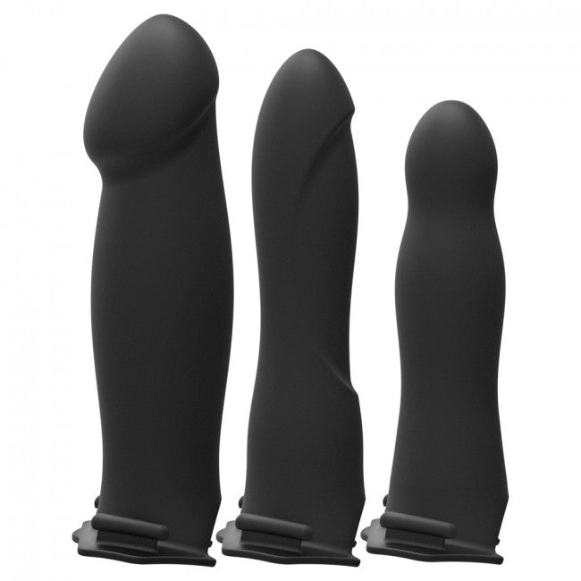 Doc Johnson Body Extensions Hollow Strap On 4 Piece Set Black